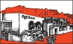 Oaxaca building line drawing